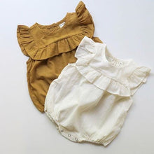 Load image into Gallery viewer, NEW Baby Girls Ruffles Romper Sleeveless Jumpsuit Outfits 0-18M