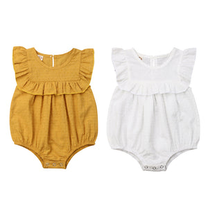 NEW Baby Girls Ruffles Romper Sleeveless Jumpsuit Outfits 0-18M