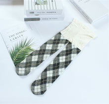 Load image into Gallery viewer, Leggings Baby Girl Checked Stockings Long Leg Warmer Plaid Pantyhose