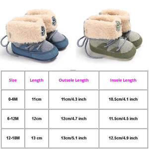 Baby Boots Winter Warm Snow Boots Infant Boy / Girl Shoes Fuzzy Prewalker 0-18M