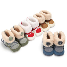 Load image into Gallery viewer, Baby Boots Winter Warm Snow Boots Infant Boy / Girl Shoes Fuzzy Prewalker 0-18M