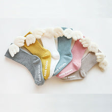 Load image into Gallery viewer, Baby Boy Girl Cotton Socks Soft Breathable Angel Wing Knee Socks Ribbed Solid Leggings 6M-5T