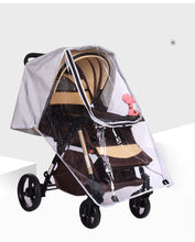 Load image into Gallery viewer, Baby Stroller Accessories Rain Cover Food Grade Non-toxic Baby Stroller Windproof Rain Cover