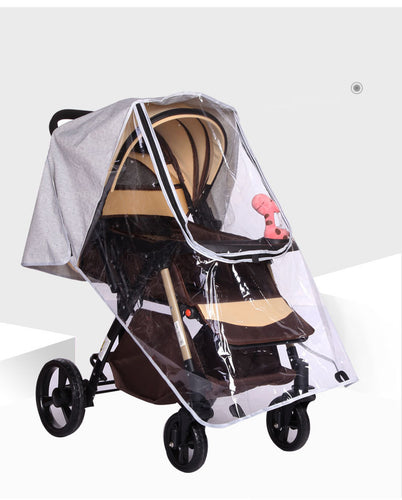 Baby Stroller Accessories Rain Cover Food Grade Non-toxic Baby Stroller Windproof Rain Cover