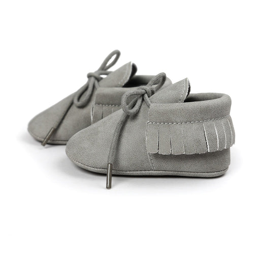 Baby First Walkers Newborn Infant Moccasin Tassel Shoes Boy / Girl Soft Sole Leather