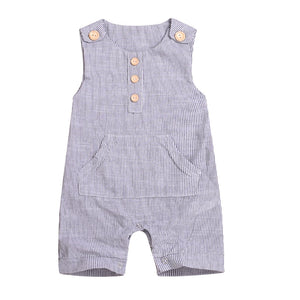 Boho Style 0-18M Newborn Cotton Linen Romper Toddler Baby Boy / Girls Summer