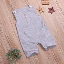 Load image into Gallery viewer, Boho Style 0-18M Newborn Cotton Linen Romper Toddler Baby Boy / Girls Summer
