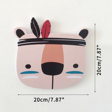 Load image into Gallery viewer, Boho Nordic Style Home Wall Ornaments Cartoon Animals Fox Baby Room Crib Decor Kids Bedroom Decoration Child Photography Props