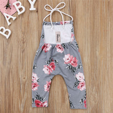 Load image into Gallery viewer, Floral Romper Baby Girls Overalls Jumpsuit Summer Boho Halter Neck