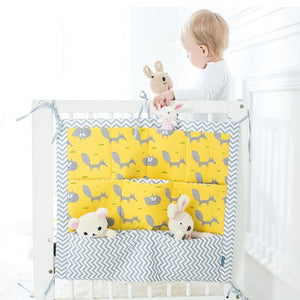 Muslin Hanging Storage Bag For Crib - Cotton Crib Organizer 60 * 50cm