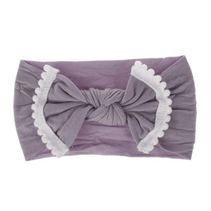 Baby Girl Hairband Soft Cotton Bow with Tassel