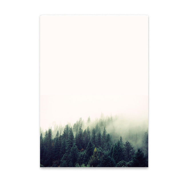 Nordic Decoration Home Picture Landscape Canvas Print Painting,Forest Wall Pictures For Home Decoration, Boho nursery baby's room