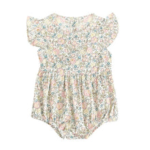 Load image into Gallery viewer, Baby Girl Short Sleeve Flowers Romper lightweight summer jumpsuit