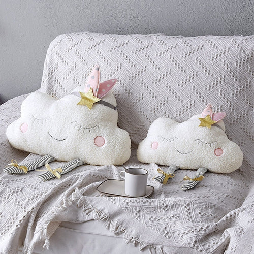 Cloud Baby Room Wall Decor - Pillow for Kids Plush Stuffed Toys Newborns Cushion Photography Props Girls Gift Children Products