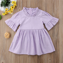 Load image into Gallery viewer, Baby Girls Casual Sun Dress Half Flare Sleeve Clothes 1-4T