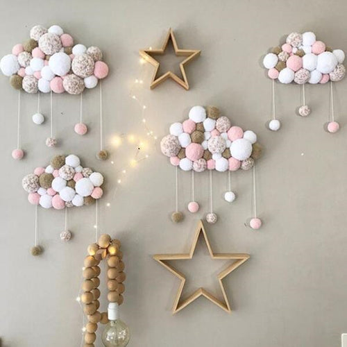 Short Coral Velvet Hairball Baby's Room Decor - Photography Prop