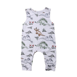 Babys Jumpsuits 6M-24M Cotton Newborn Baby Boy / Girl Dinosaur Romper Jumpsuit