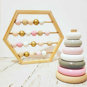 Nordic Style Natural Wooden Abacus With beads Educational Toys