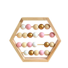 Load image into Gallery viewer, Nordic Style Natural Wooden Abacus With beads Educational Toys