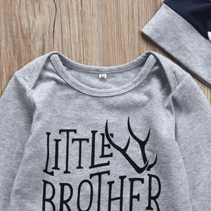 Brother Boy Set Infant Baby Little/Big Brother Romper Big T-shirt Top Matching Outfits