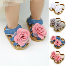 Load image into Gallery viewer, NEW style Girls Soft Slip-resistant Summer Flowers Sandals Prewalker 0-18M