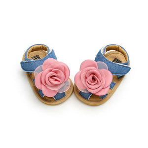 NEW style Girls Soft Slip-resistant Summer Flowers Sandals Prewalker 0-18M