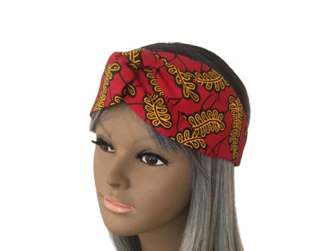 African Cross Turban Headband in Ankara