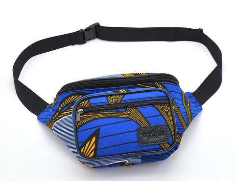 ASHA waist bag in Blue Black