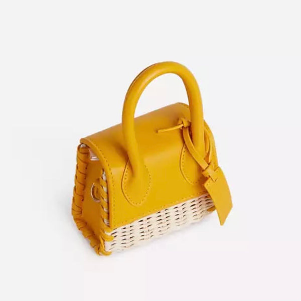 the RONKE croc mini straw in yellow