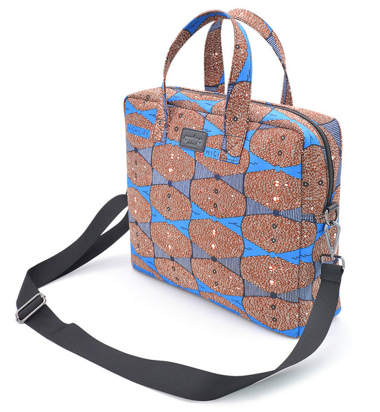 TOBI African Print Laptop Tech Bag