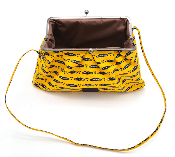 ZAINAB Grab Clutch Purse in Yellow