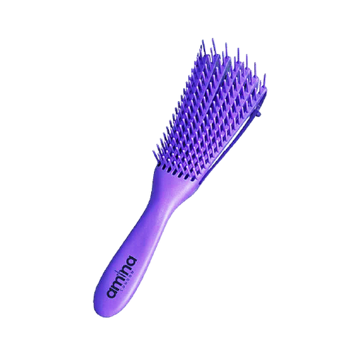 Detangler Brush for Afro Hair - 3a to 4c - PuRplE