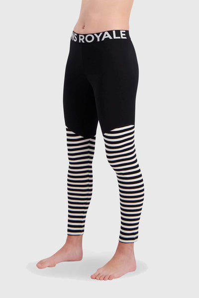 Christy Legging - Black / Thick Stripe