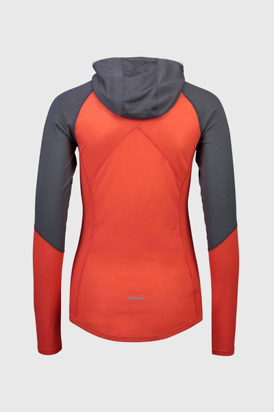 Bella Tech Hood - Poppy / Charcoal / Grey Marl