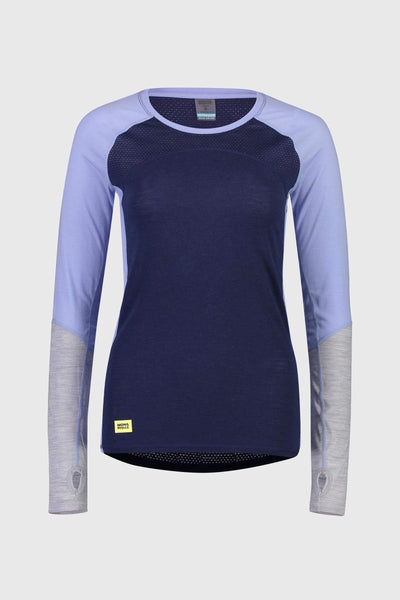Bella Tech LS - Navy / Blue Fog / Grey Marl