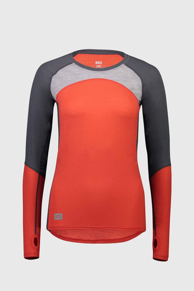 Bella Tech LS - Poppy / Charcoal / Grey Marl
