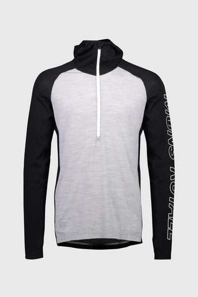 Temple Tech Hood - Black / Grey Marl