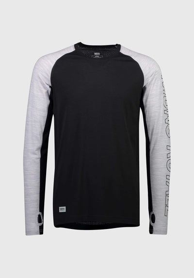 Temple Tech LS - Black / Grey Marl