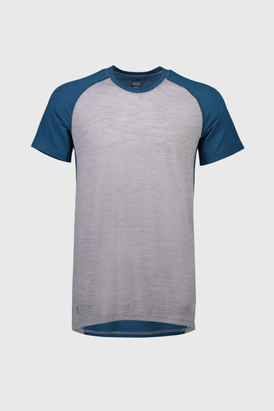 Temple Tech T - Grey Marl / Oily Blue
