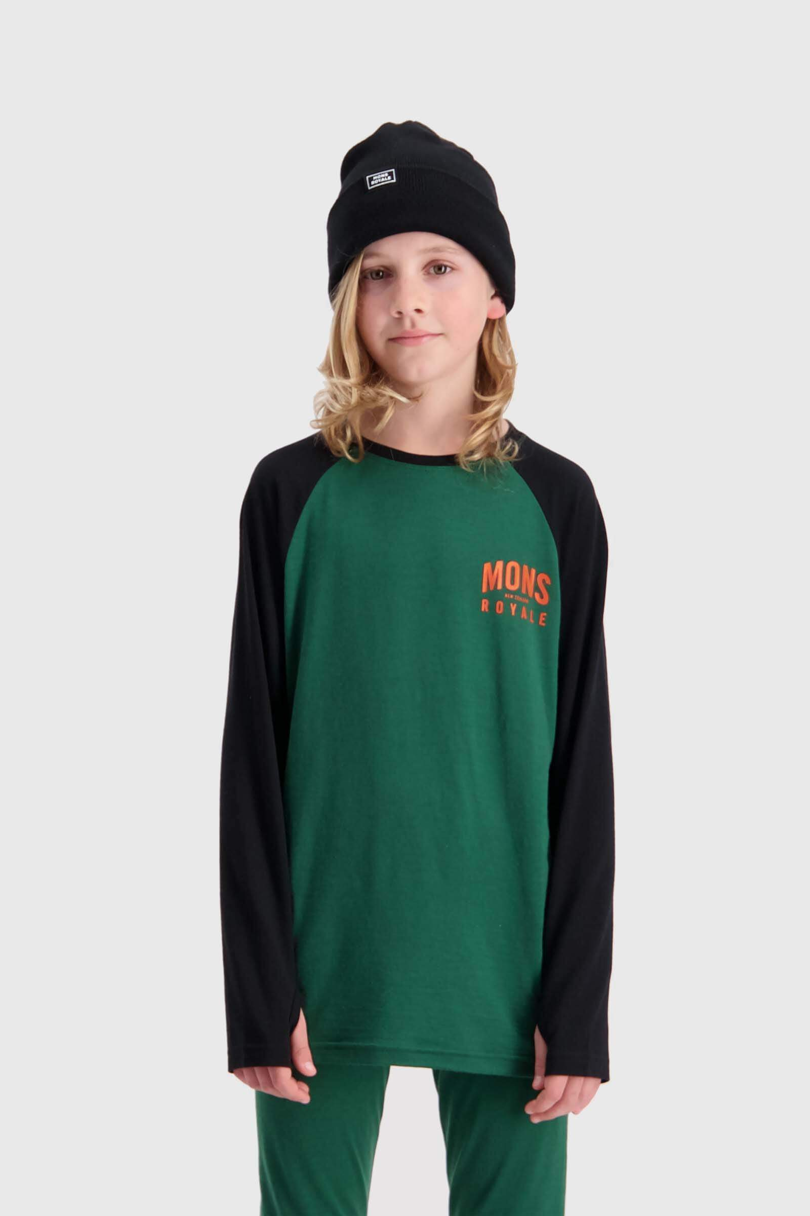 Groms LS - Pine / Black