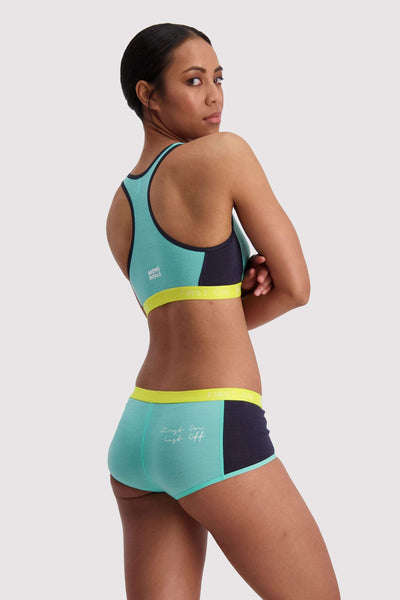 Sierra Sports Bra - Mint Edge