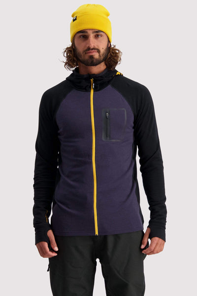 Traverse Midi Full Zip Hood - 9 Iron / Gold