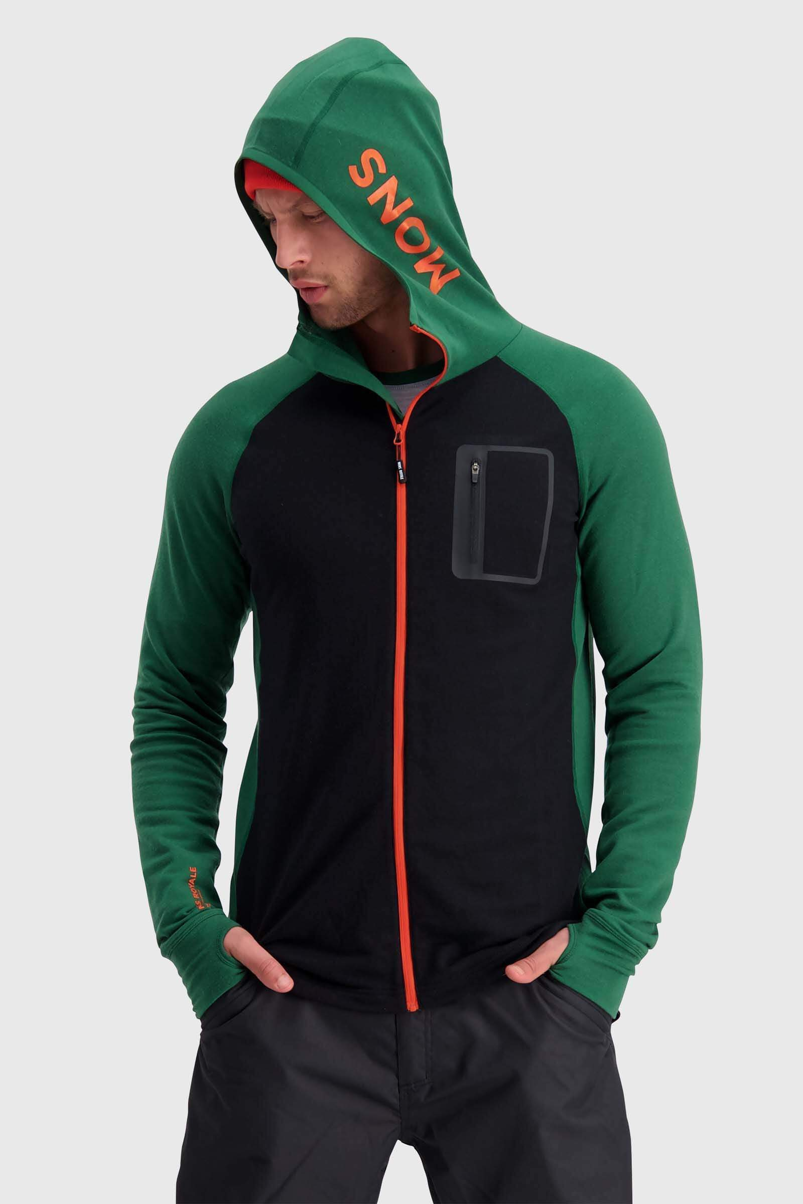 Traverse Midi Full Zip Hood - Pine / Black