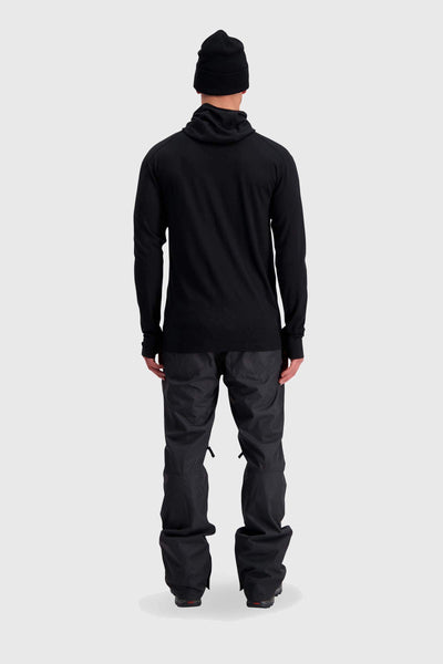 Alta Tech Zip Hood - Black / Grey Marl