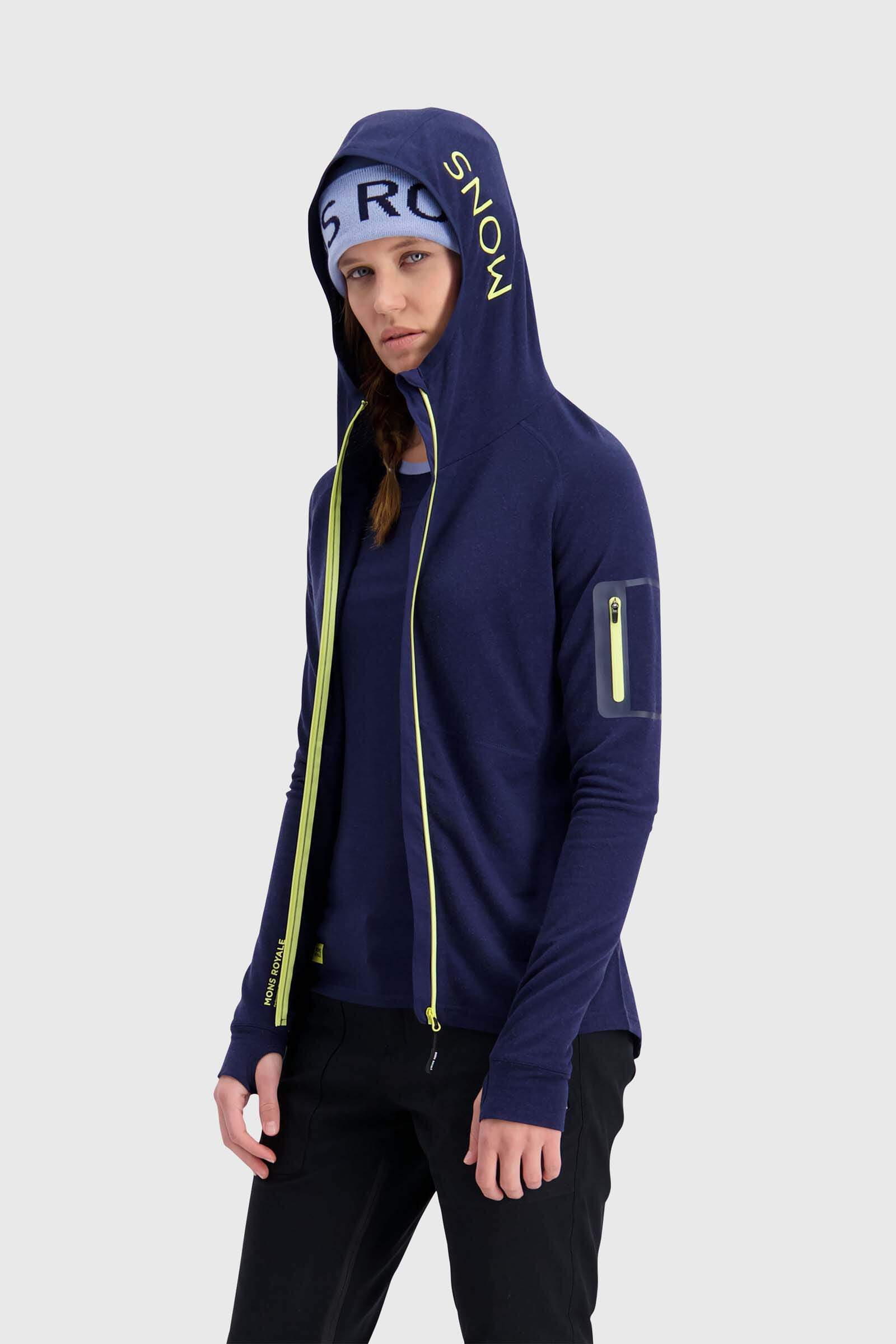 Ascend Midi Full Zip Hood - Navy