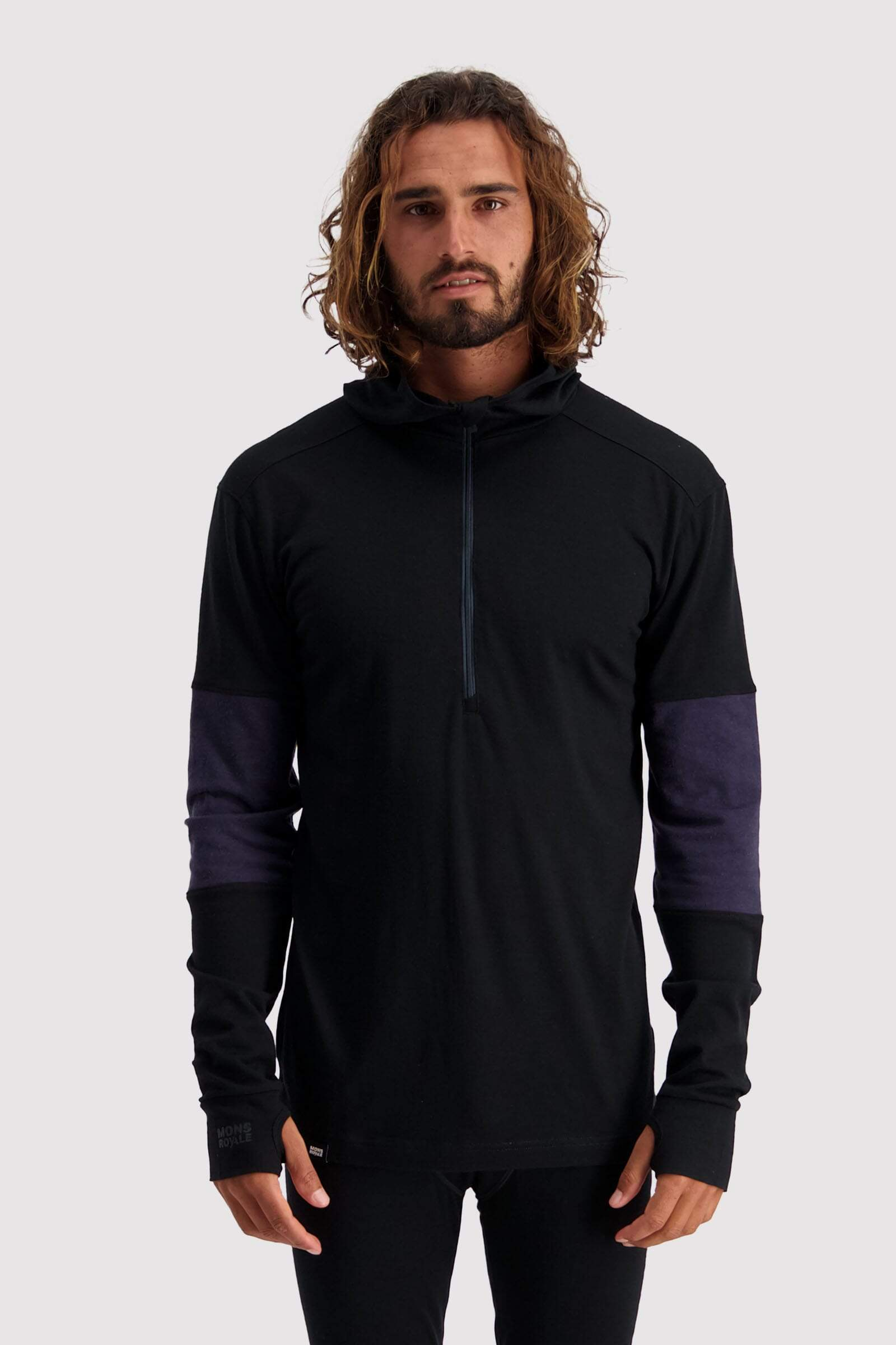 Alta Tech Zip Hood - Black / 9 Iron