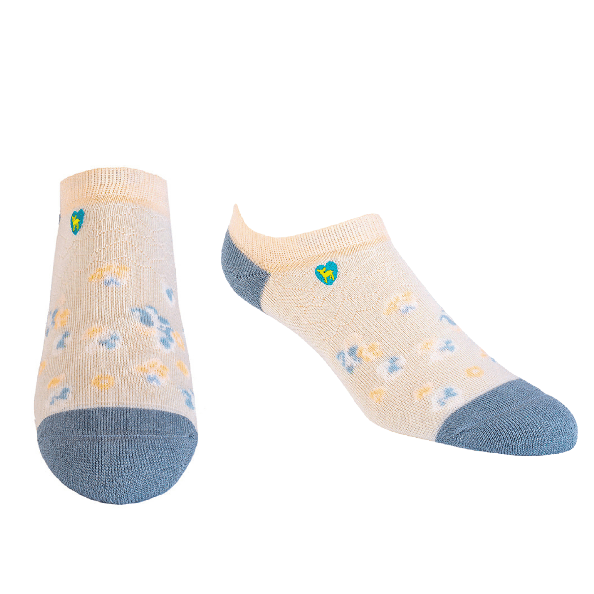 Bamboo Socks | Everyday Ankle | Spring Blossom Blue