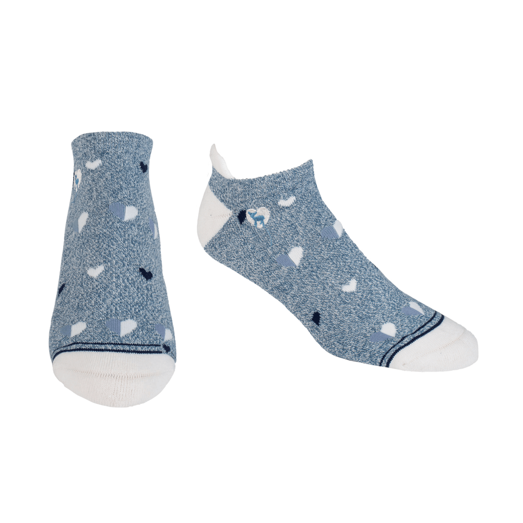 Cushioned Socks | Comfy Ankle | My Heart Is Blue