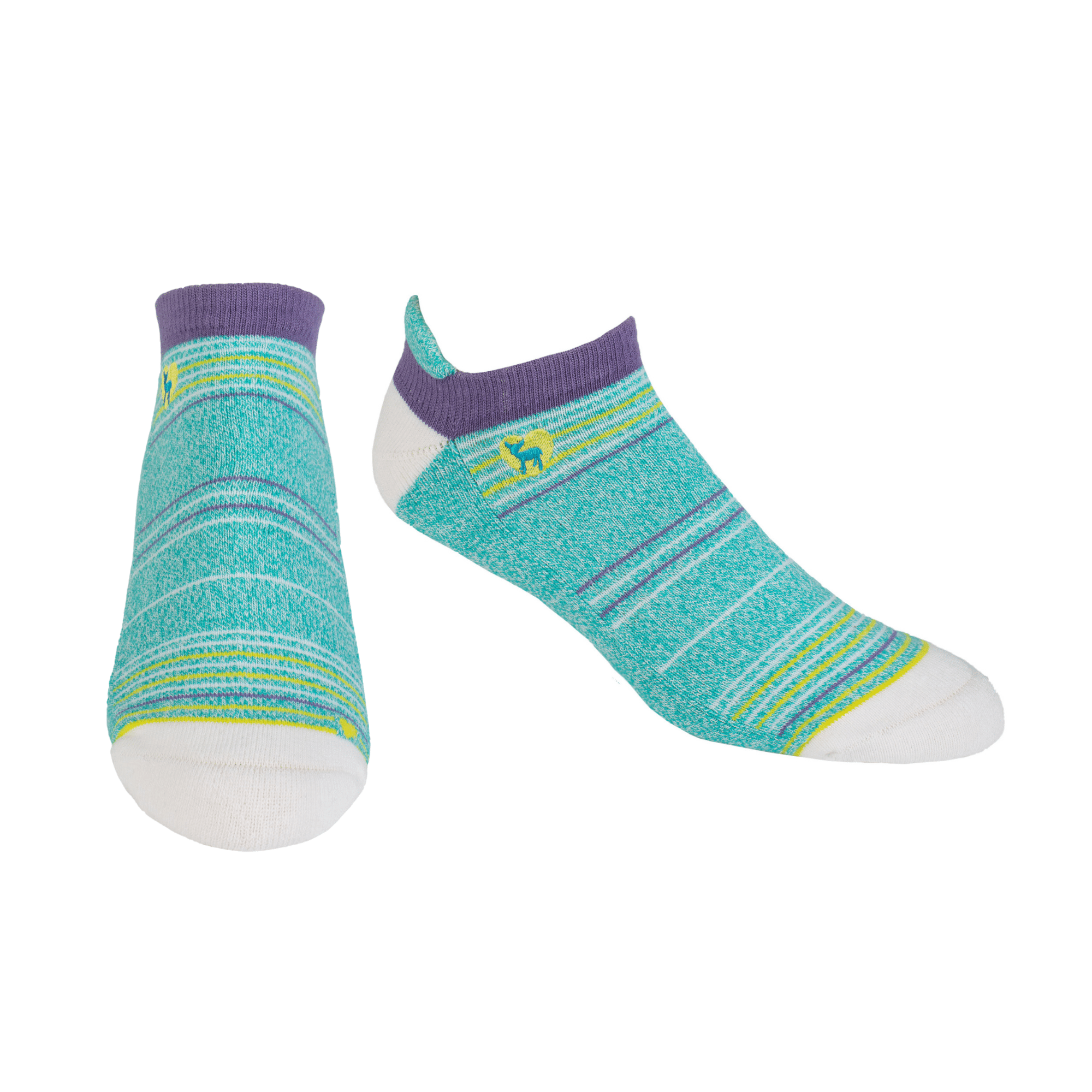 Cushioned Socks | Comfy Ankle | Seaside Peacock