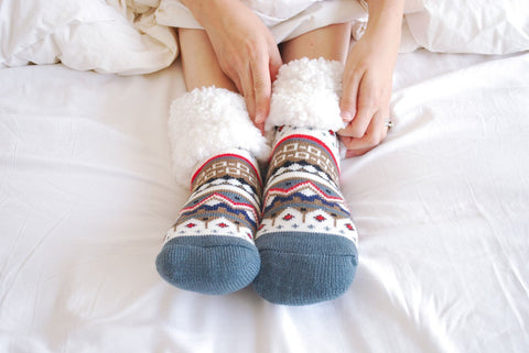 Classic Slipper Socks | Nordic White